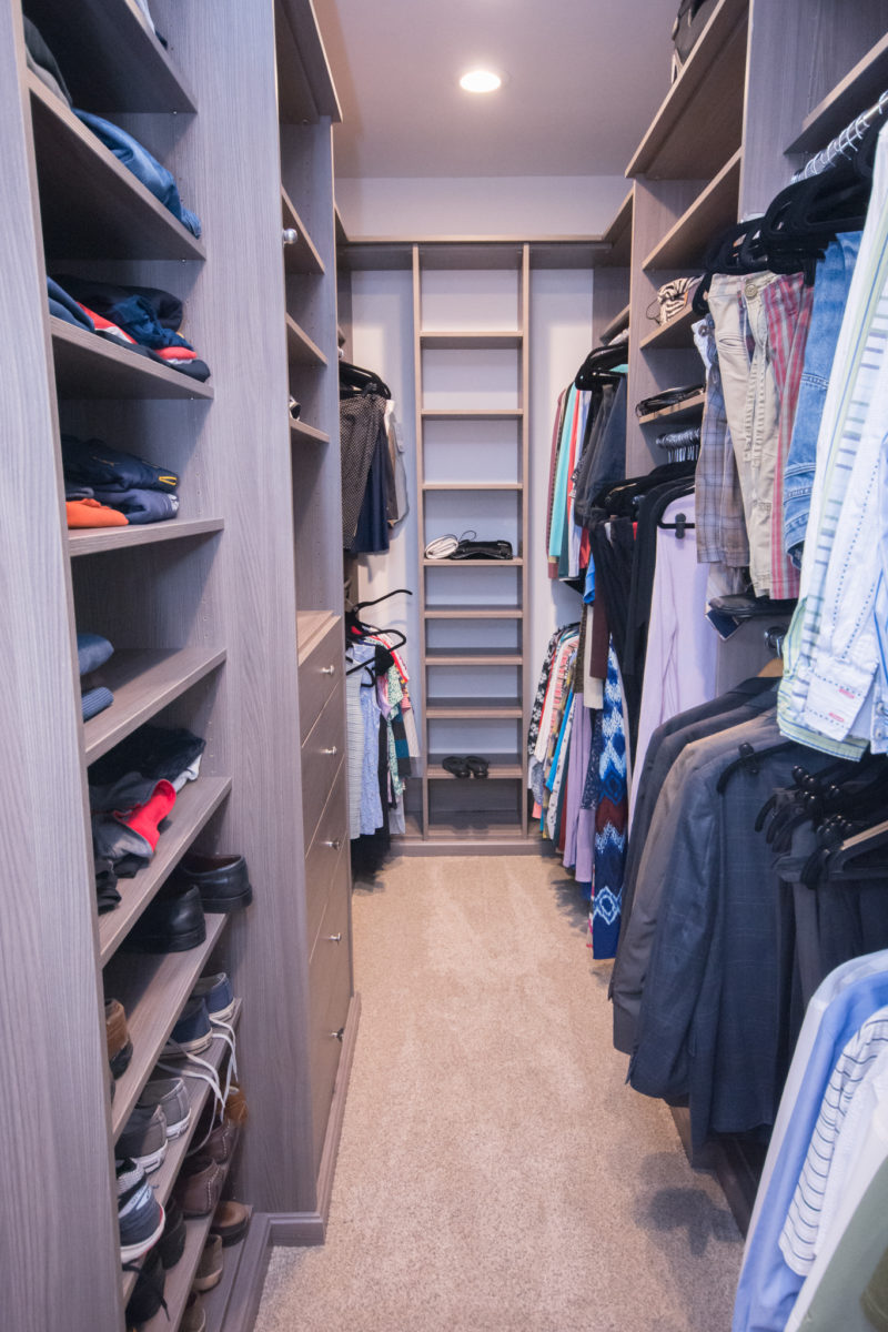 Waxhaw, NC home, walk-in closet with clothes