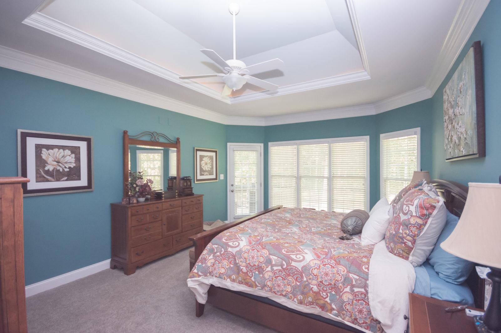Waxhaw, NC home, master bedroom
