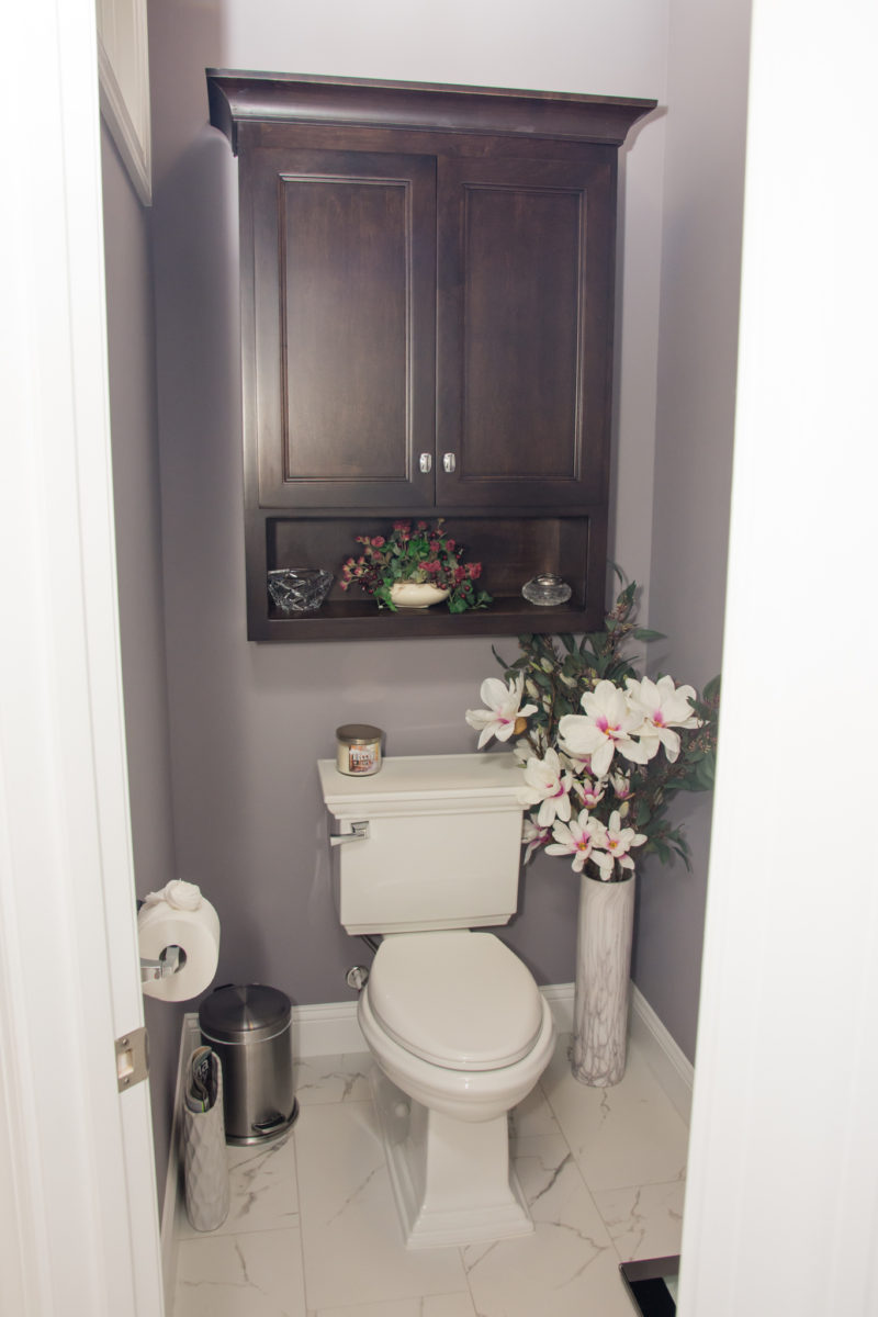 Waxhaw, NC home, bathroom with floral design