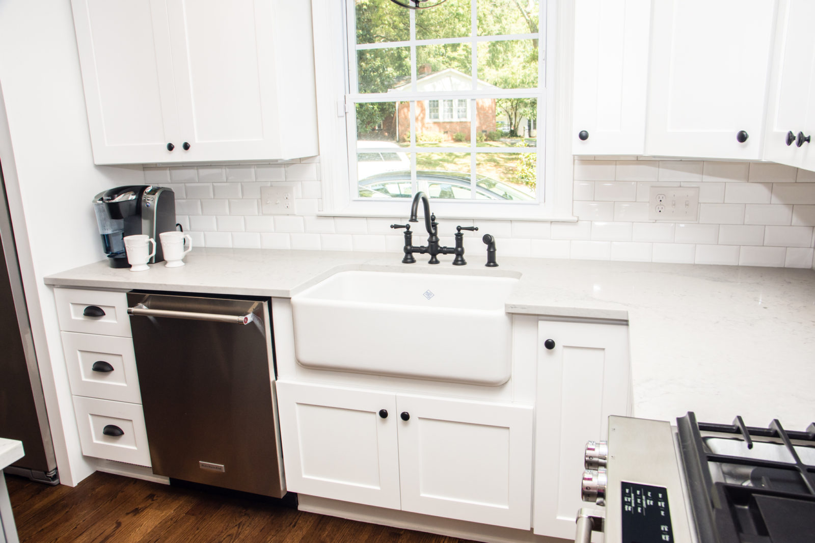 Murray Hill kitchen with dishwasher and white cabinets
