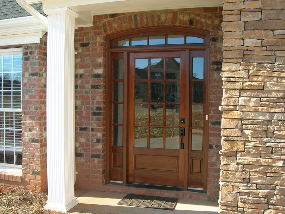 Mint Hill, NC home, wooden and glass front door