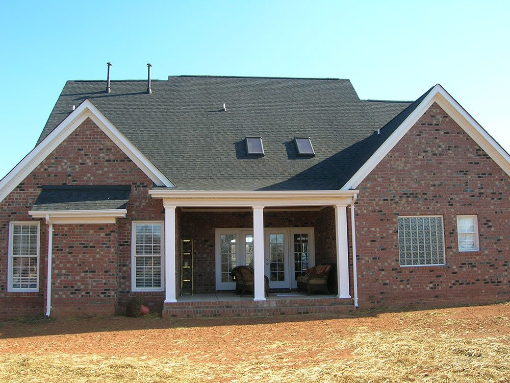 Mint Hill, NC home, brick, back yard