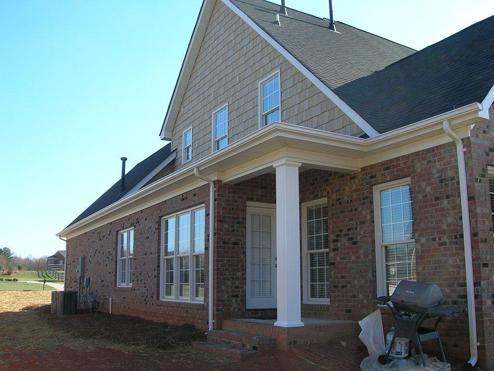 Mint Hill, NC home, white column, back yard