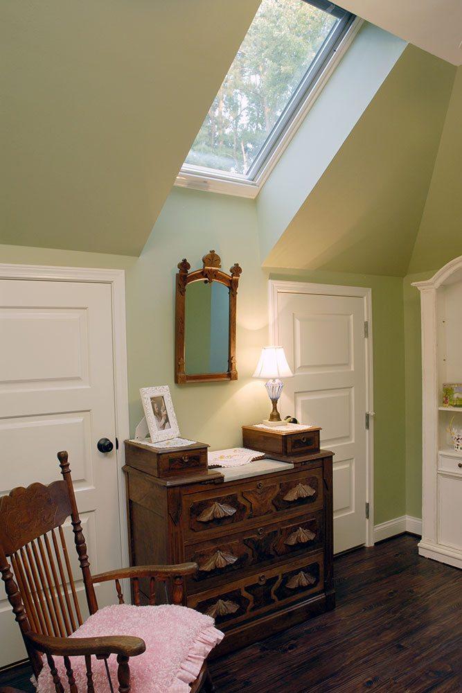 attic renovation with sky window