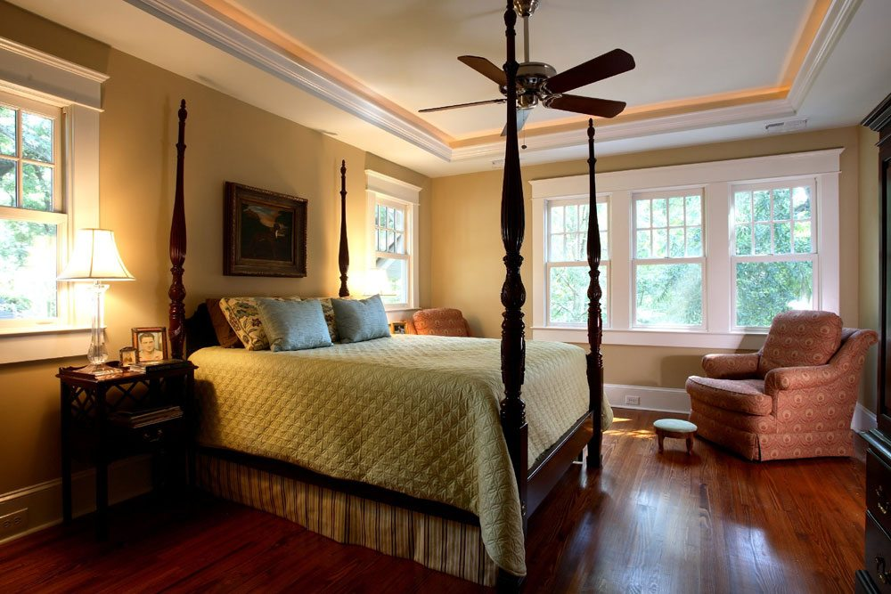 Hermitage home, master bedroom