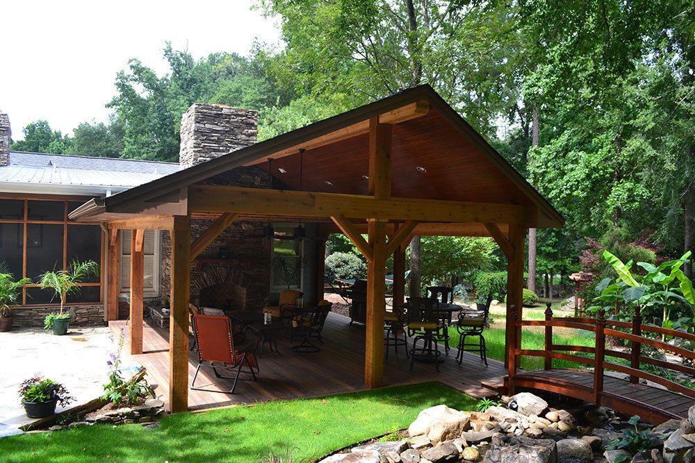 wooden deck, outdoor living