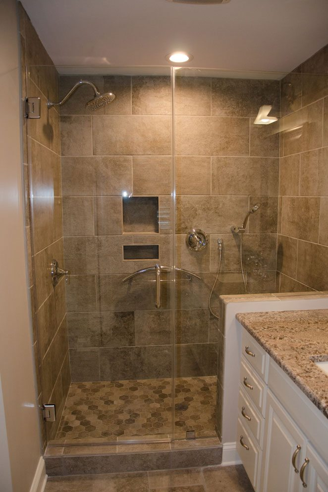 Truscott home, tall glass shower